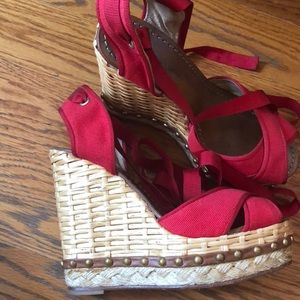Authentic Dolce Gabbana lace up  wedges